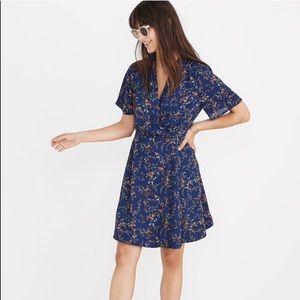 Madewell Amaranth Wrap Dress in Moonless Floral 4